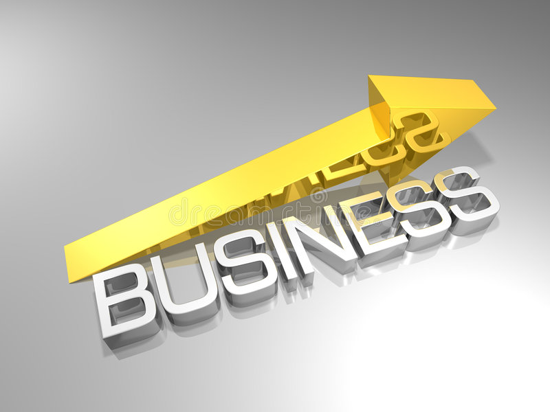 Business arrow stock illustration