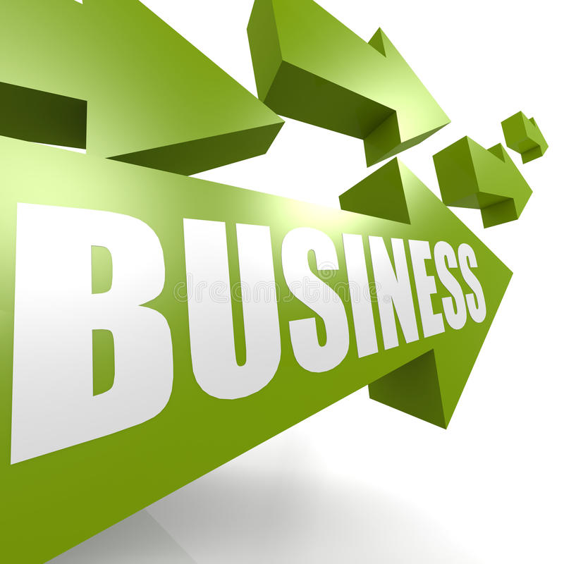 Business arrow green royalty free illustration