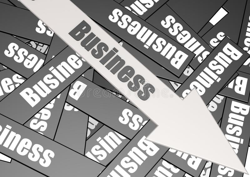 Business arrow royalty free illustration