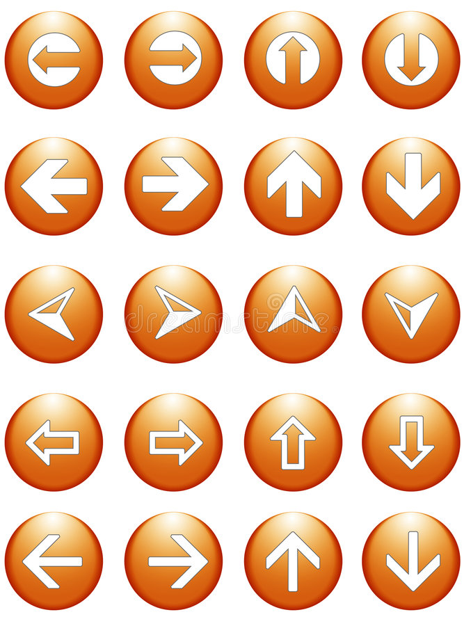 Business arrow symbols buttons vector illustration