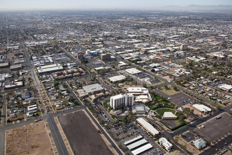 Business and Arts Center of downtwon Mesa, Arizona. Business, Convention, Arts and Accommodations area of downtown Mesa, Arizona stock photos