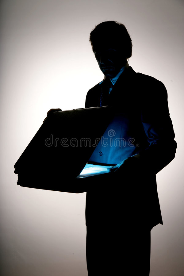 Business attache case royalty free stock image