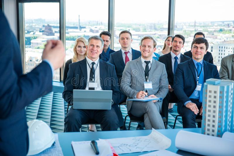Business audience at training royalty free stock images