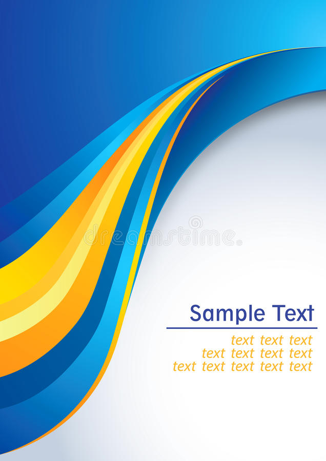 Business background. Abstract clean business background in yellow orange and blue colors with space for text. Additional full editable vector .EPS file included vector illustration