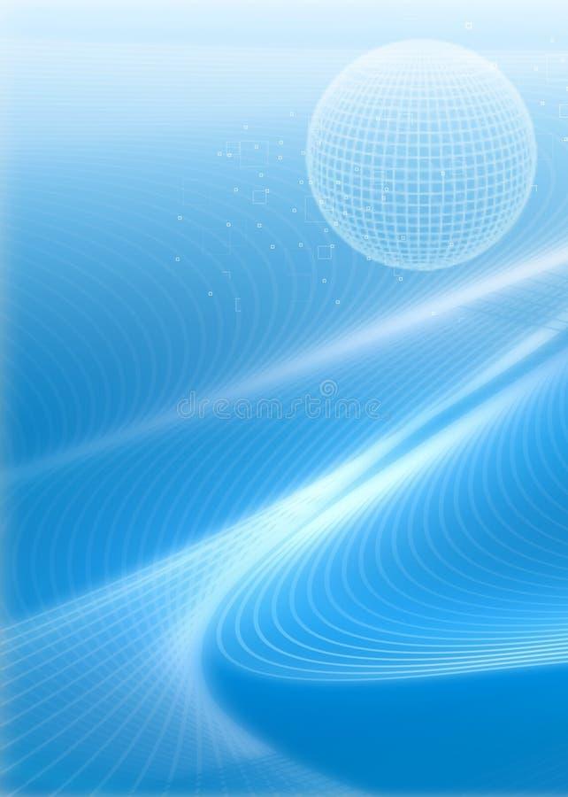 Business background. Fractal ,wave,globe