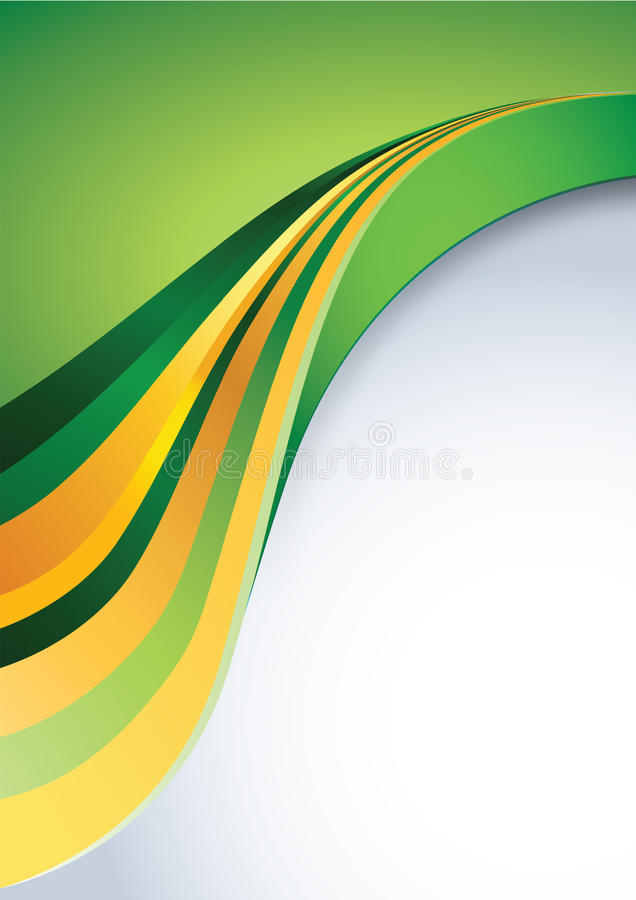 Business background. Abstract clean business background in yellow orange and green colors with space for your text. Additional full editable vector .EPS file vector illustration