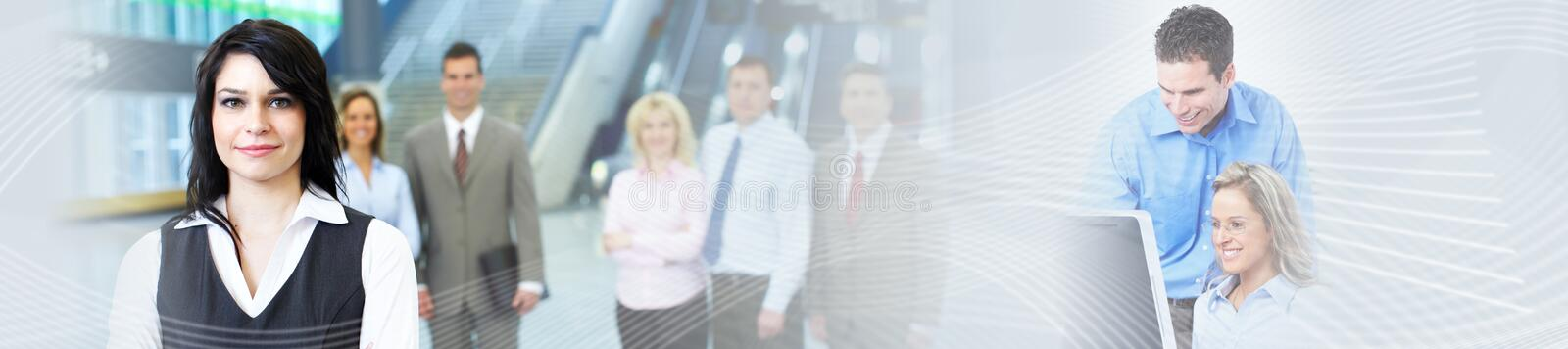 Business background. Business people group over abstract financial background royalty free stock photography