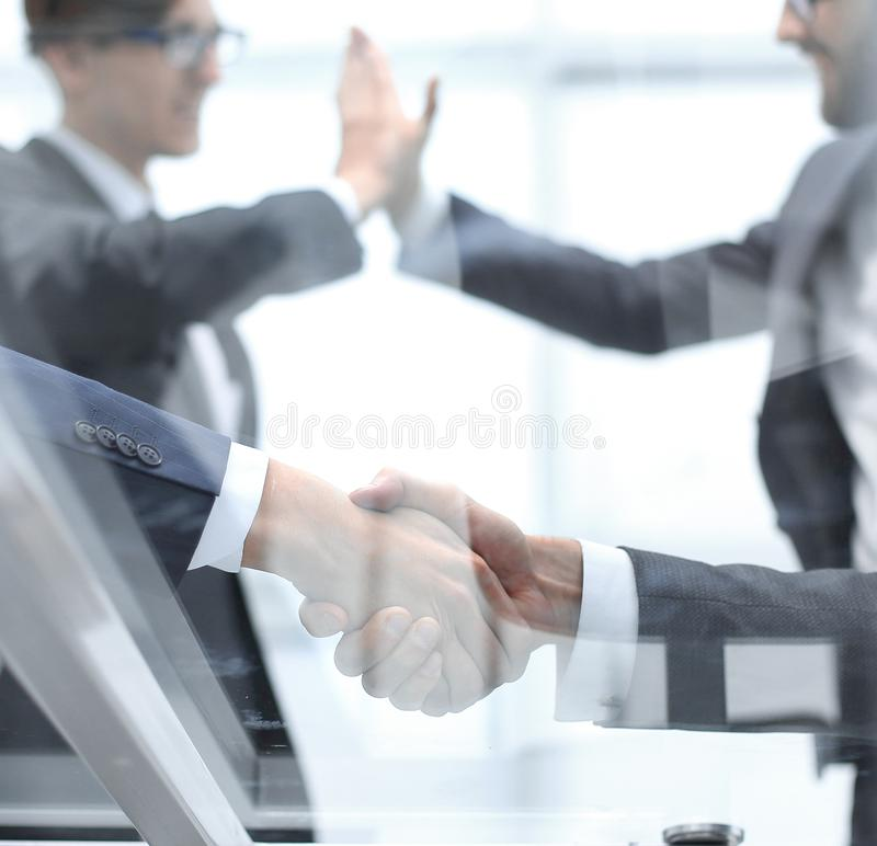Business background.concept of successful teamwork royalty free stock photos