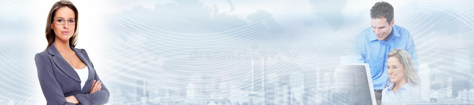 Business background. Business people group over abstract financial background stock photo