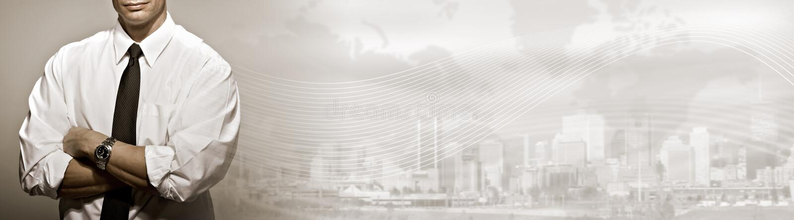 Business background. Successful businessman financial bank agent over abstract business background stock photo