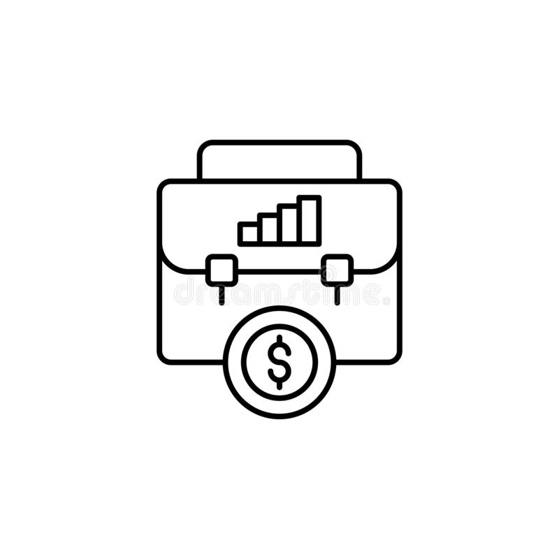 business, bag, analytics, dollar icon. Simple thin line, outline vector of Saving money icons for UI and UX, website or mobile vector illustration
