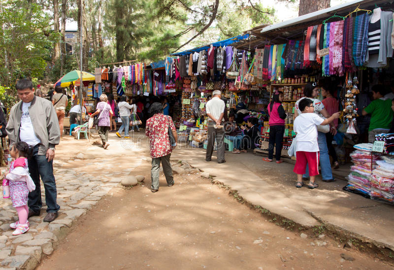 Business in Baguio City, Philippines. Baguio City, Philippines- May 23, 2013: Local business inside Mines View park, one of the main tourist attraction in the stock image