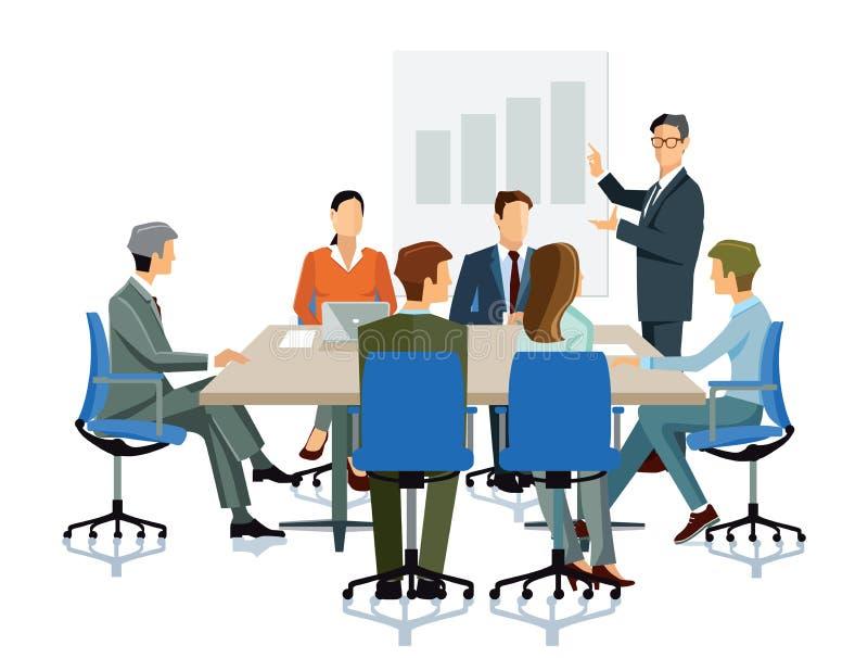 Business balance meeting stock illustration