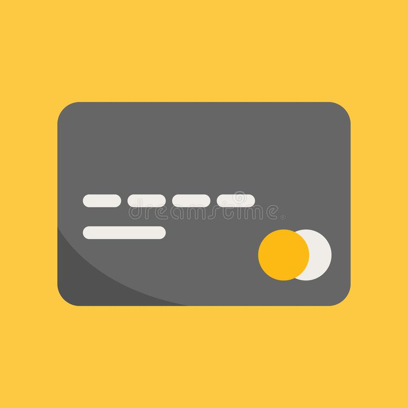 Business, Banking and Finance icon, credit card icon in flat design vector illustration stock illustration