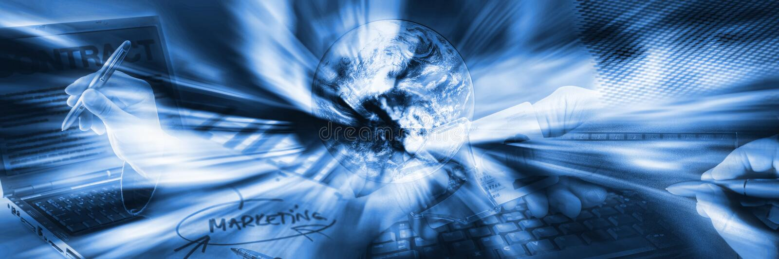 Download Business banner stock illustration. Image of zoom, global - 13858139