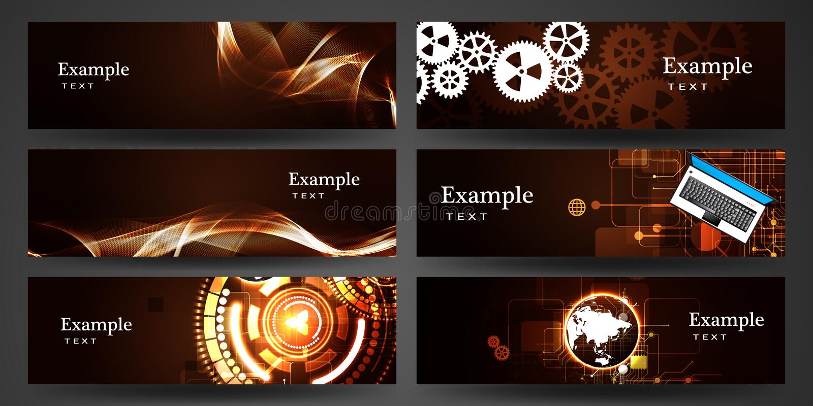 Business banner set. Abstract Business banner of the lines set vector illustration