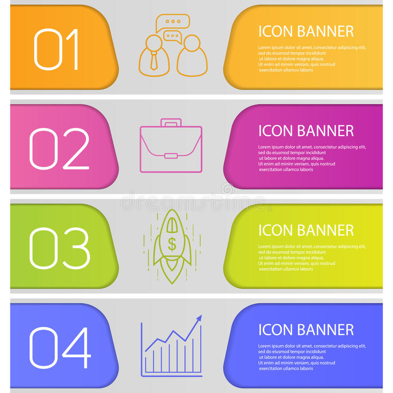 Business banner templates set stock vector illustration of linear download business banner templates set stock vector illustration of linear concept 79191779 flashek Choice Image