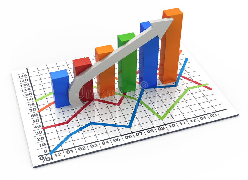 Download Business bar chart stock illustration. Illustration of forecast - 24340278
