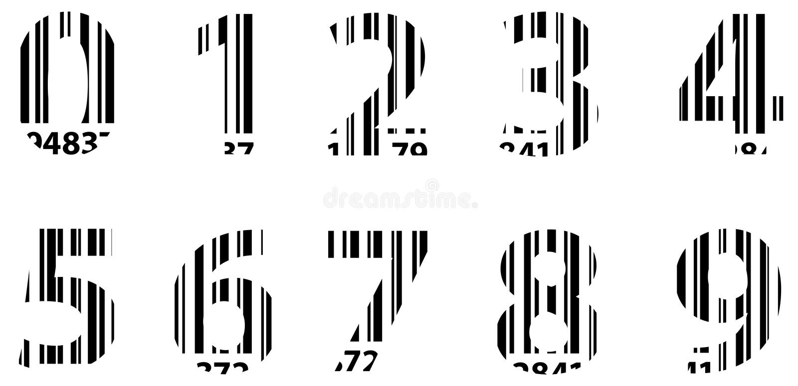 Business Bar Code Alphabet Numbers royalty free stock images