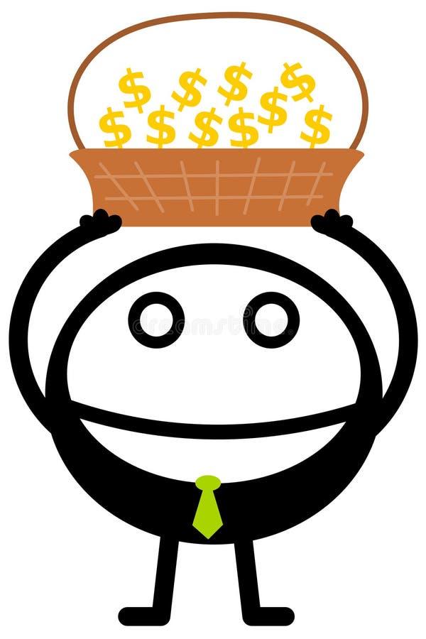 Download A business basket stock illustration. Illustration of rich - 36401553