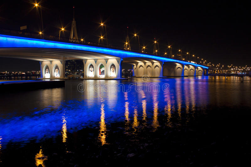 Business Bay bridge in Dubai stock photography