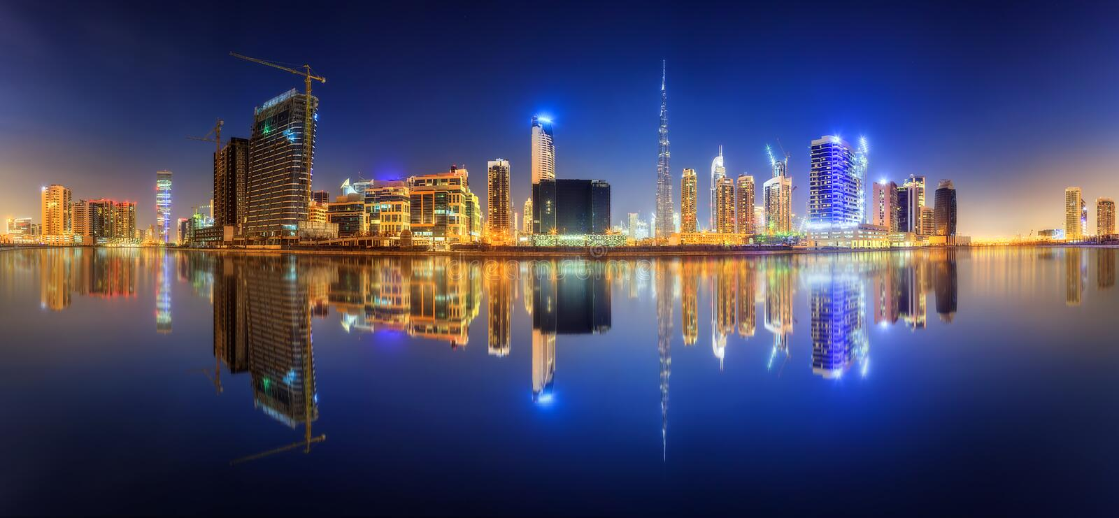 Download Business bay of Dubai, UAE stock image. Image of cityscape - 79925033