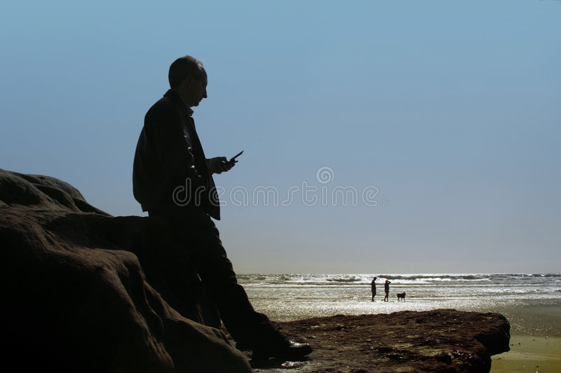 Business at the beach stock photography
