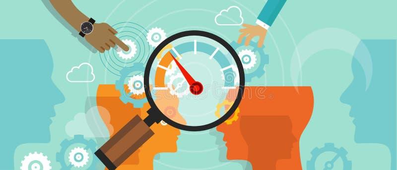 Business benchmarking benchmark measure company performance vector illustration