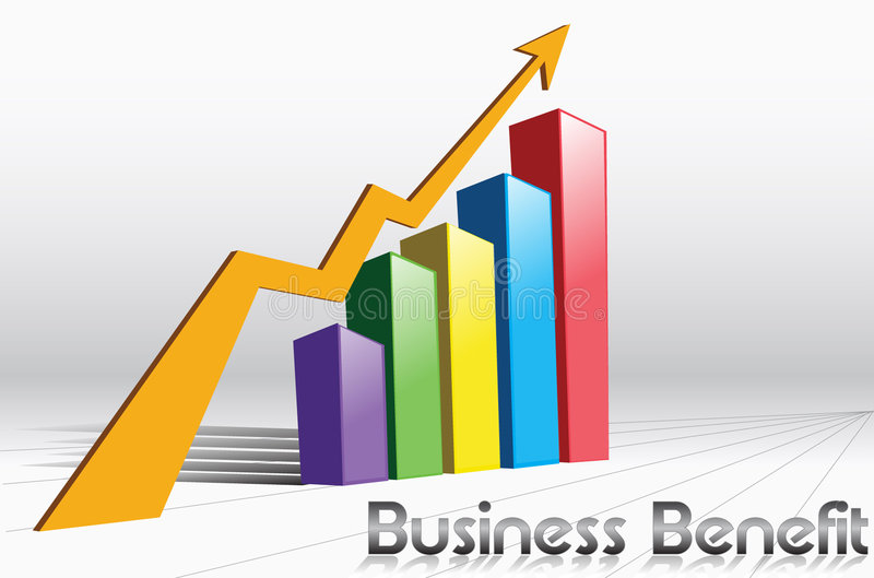 Business benefit. Be increase graph vector illustration