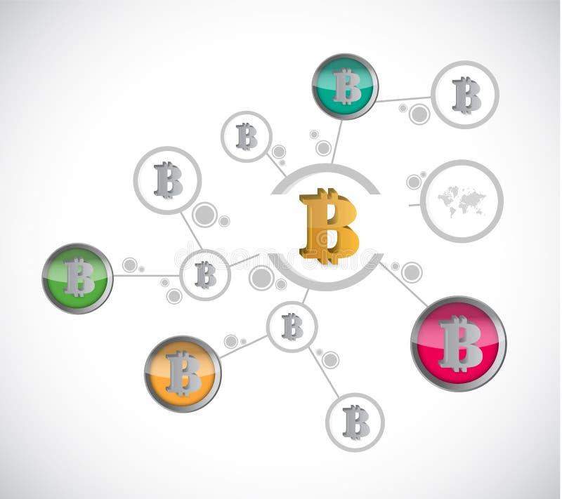 Business bitcoin diagram sign illustration design stock illustration