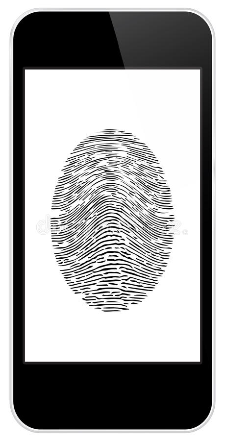 Business Black Smart Phone With Fingerprint Access stock images