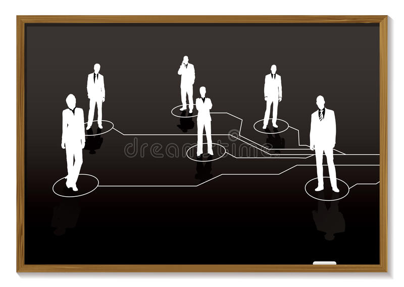 Business blackboard stock image