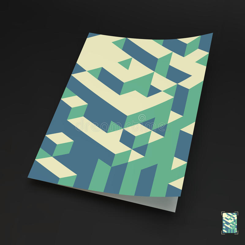 A4 business blank. 3d blocks structure background. Vector illustration. Can be used for advertising, marketing, presentation vector illustration