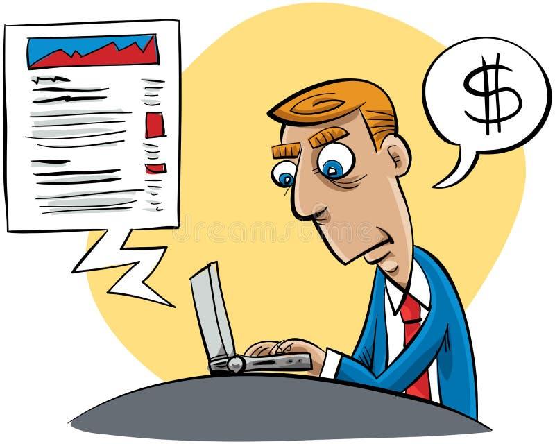 Download Business Blogger stock illustration. Image of male, illustration - 26763566
