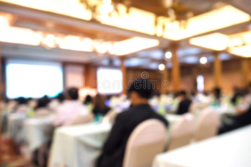 Business blurred background. Seminar and conference in conventio stock photo