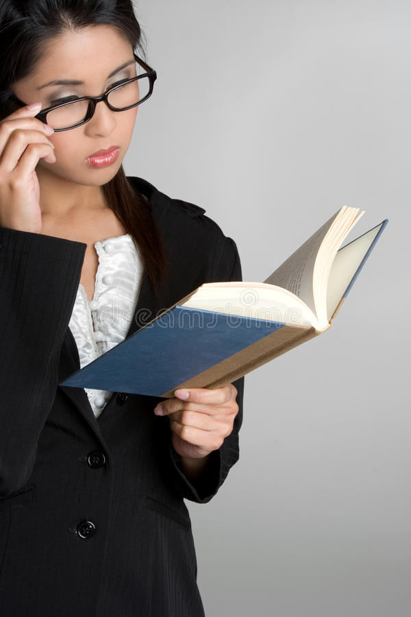 Business Book Woman royalty free stock photos