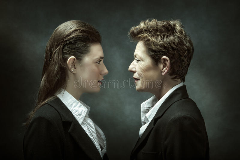 Business boss and new worker royalty free stock image