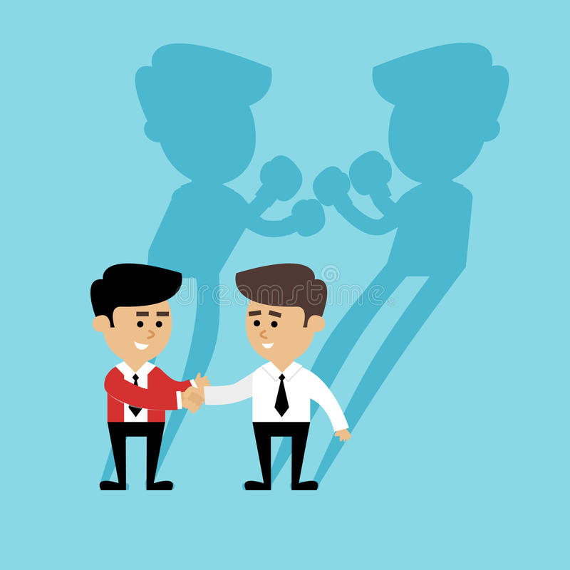 Business boxing shadow royalty free illustration