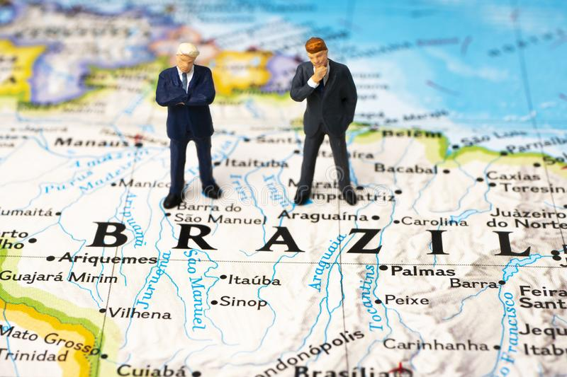 Business in Brazil royalty free stock photo