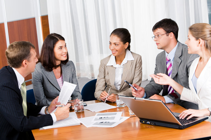 Business Briefing Stock Image