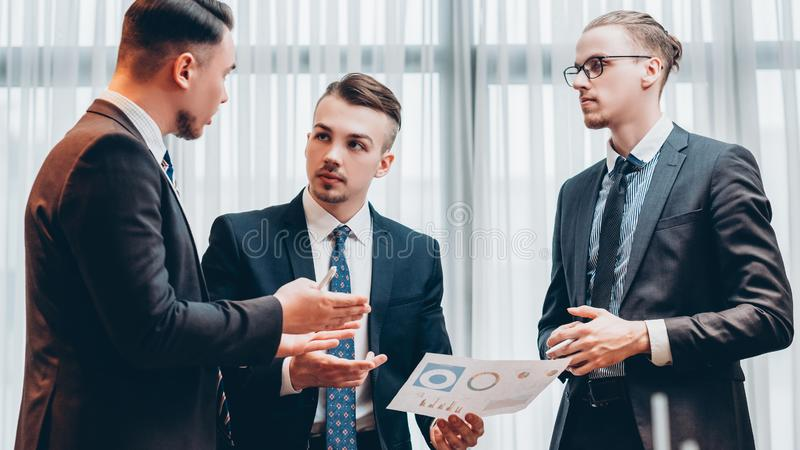 Business briefing professional teamwork boss stock photo