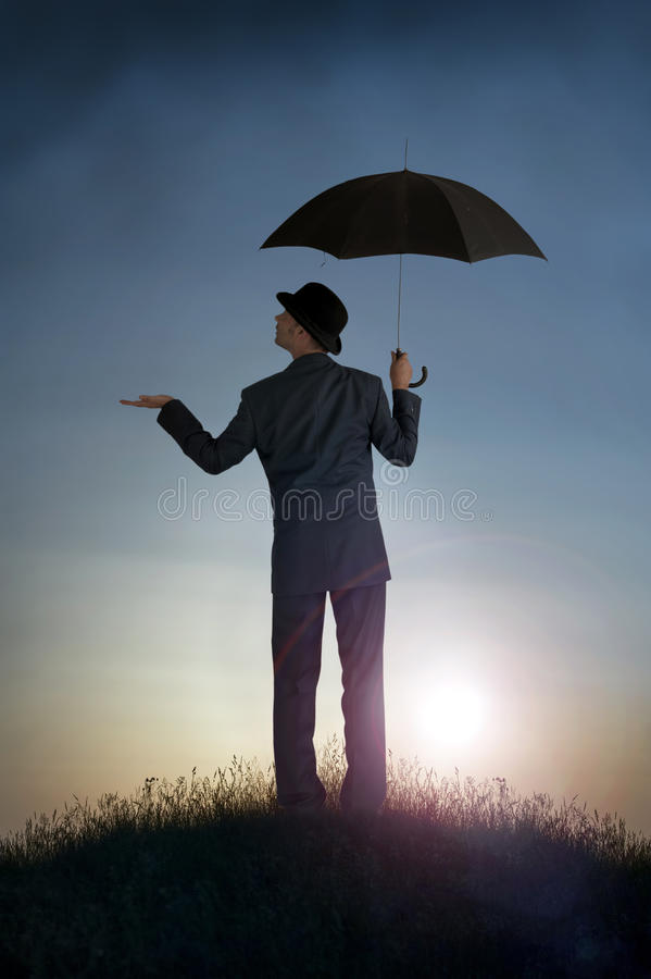 Business bright outlook concept stock photo