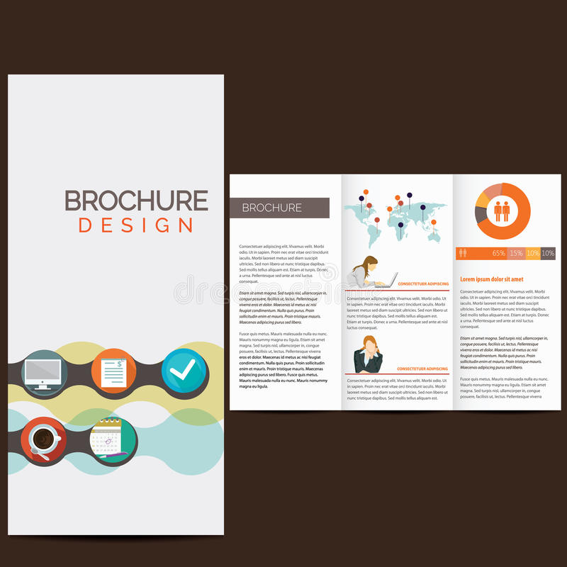 Business brochure. Design with icons royalty free illustration