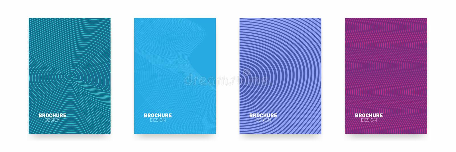 Business brochure cover design. Abstract geometric template. Set of minimal covers design vector illustration