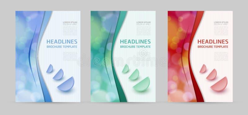 Set of Business brochure cover design stock illustration