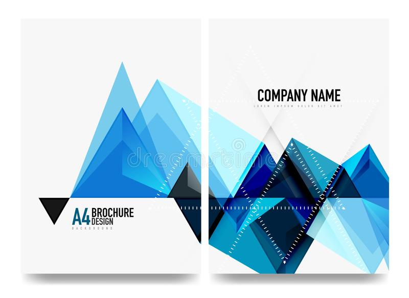Business brochure cover layout, flyer a4 template stock illustration