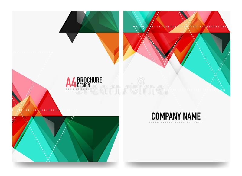 Business brochure cover layout, flyer a4 template vector illustration