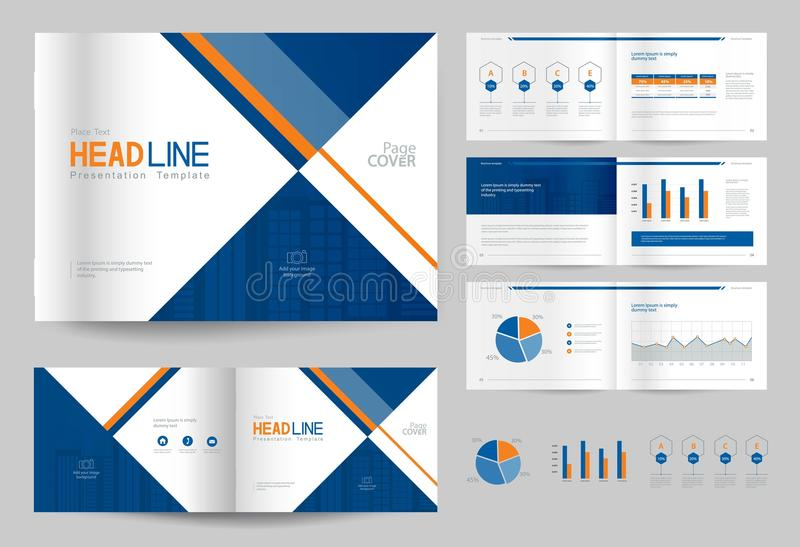 Business Brochure Design Template And Page Layout For Company - Unique company profile presentation template ideas