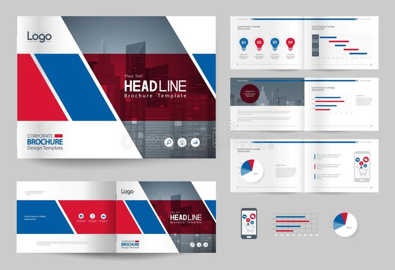 Download Business Brochure Design Template And Page Layout For Company  Profile, Annual Report, Stock  Corporate Profile Template