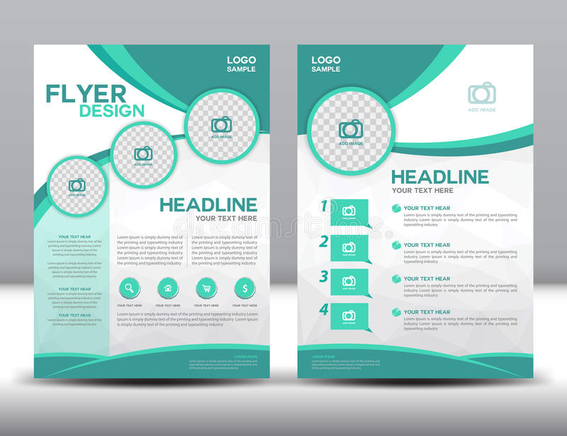 Business brochure flyer design layout template in A4 size vector illustration